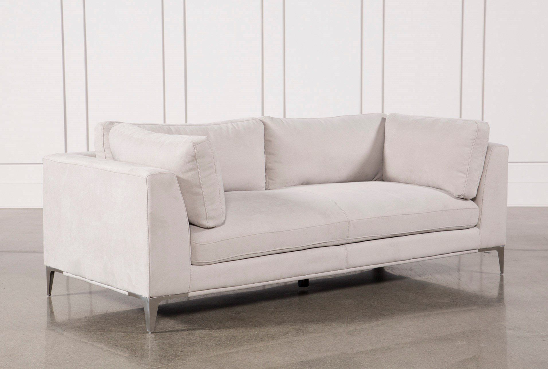 Apollo Light Grey Sofa W/2 Pillows Inside Escondido Sofa Chairs (Image 4 of 20)