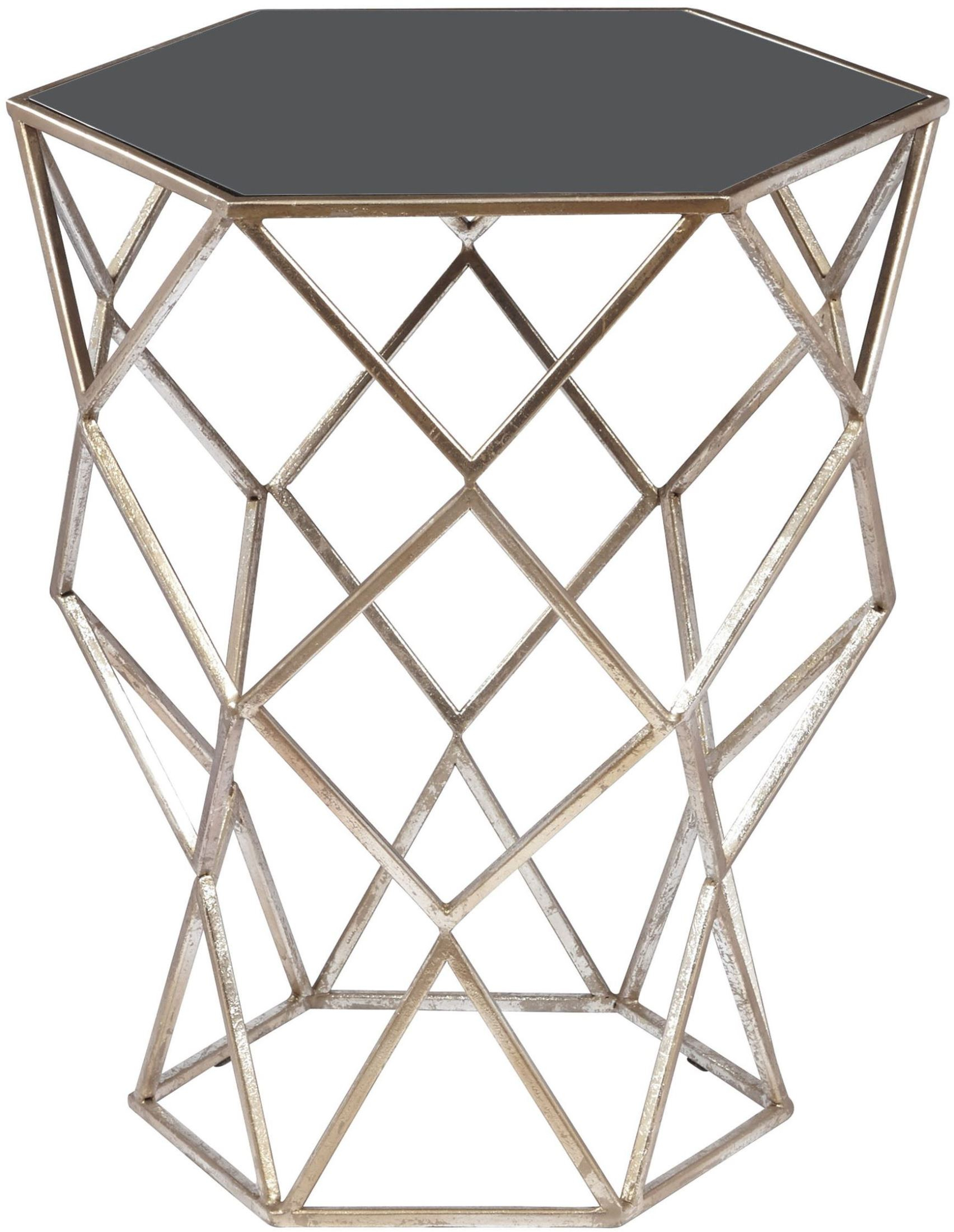 Aquarius Black Accent Table – Accent Tables – Occasional And Accent With Aquarius Dark Grey Sofa Chairs (Image 2 of 20)
