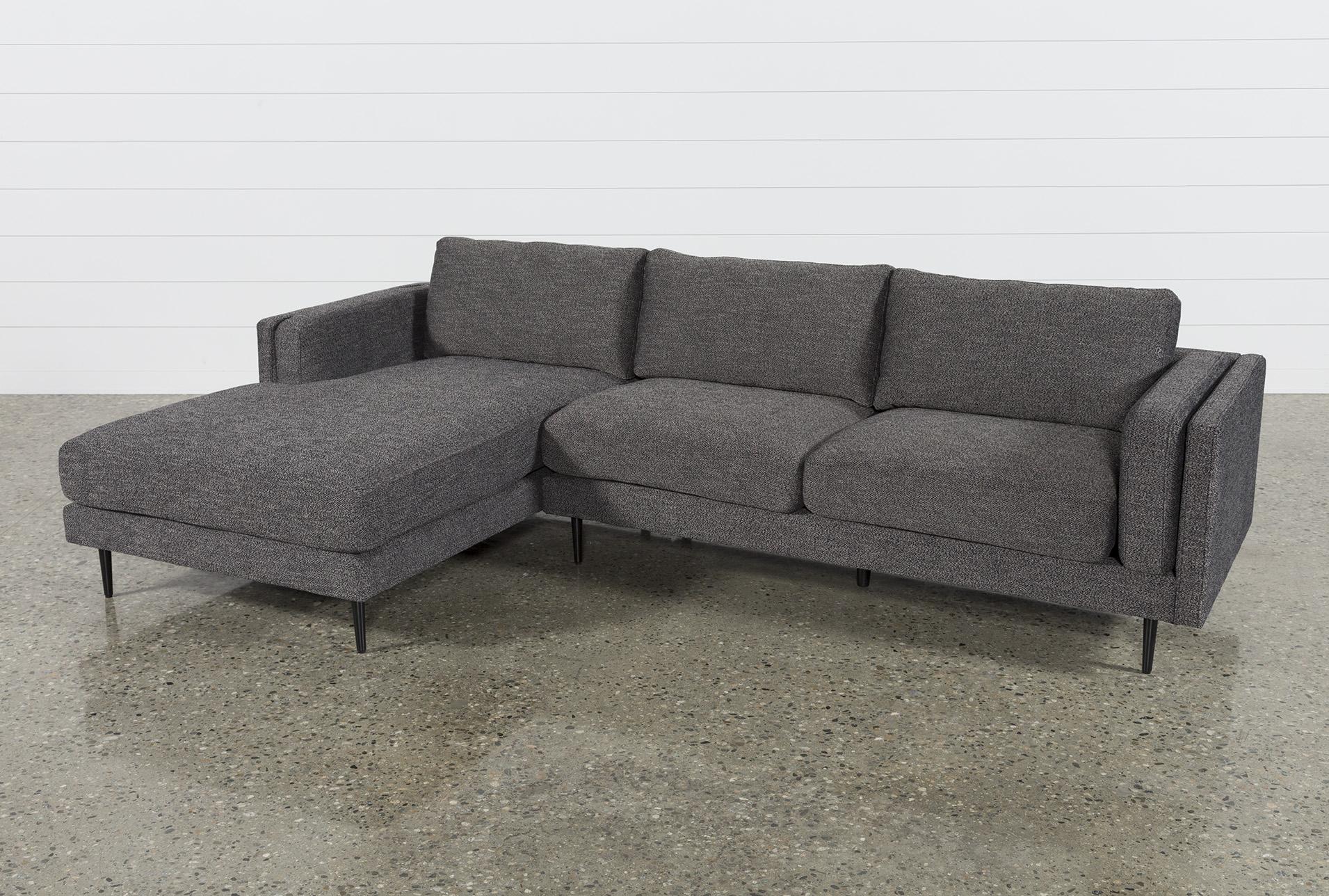 Aquarius Dark Grey 2 Piece Sectional W/laf Chaise In 2018 | Products In Aquarius Dark Grey Sofa Chairs (Image 4 of 20)