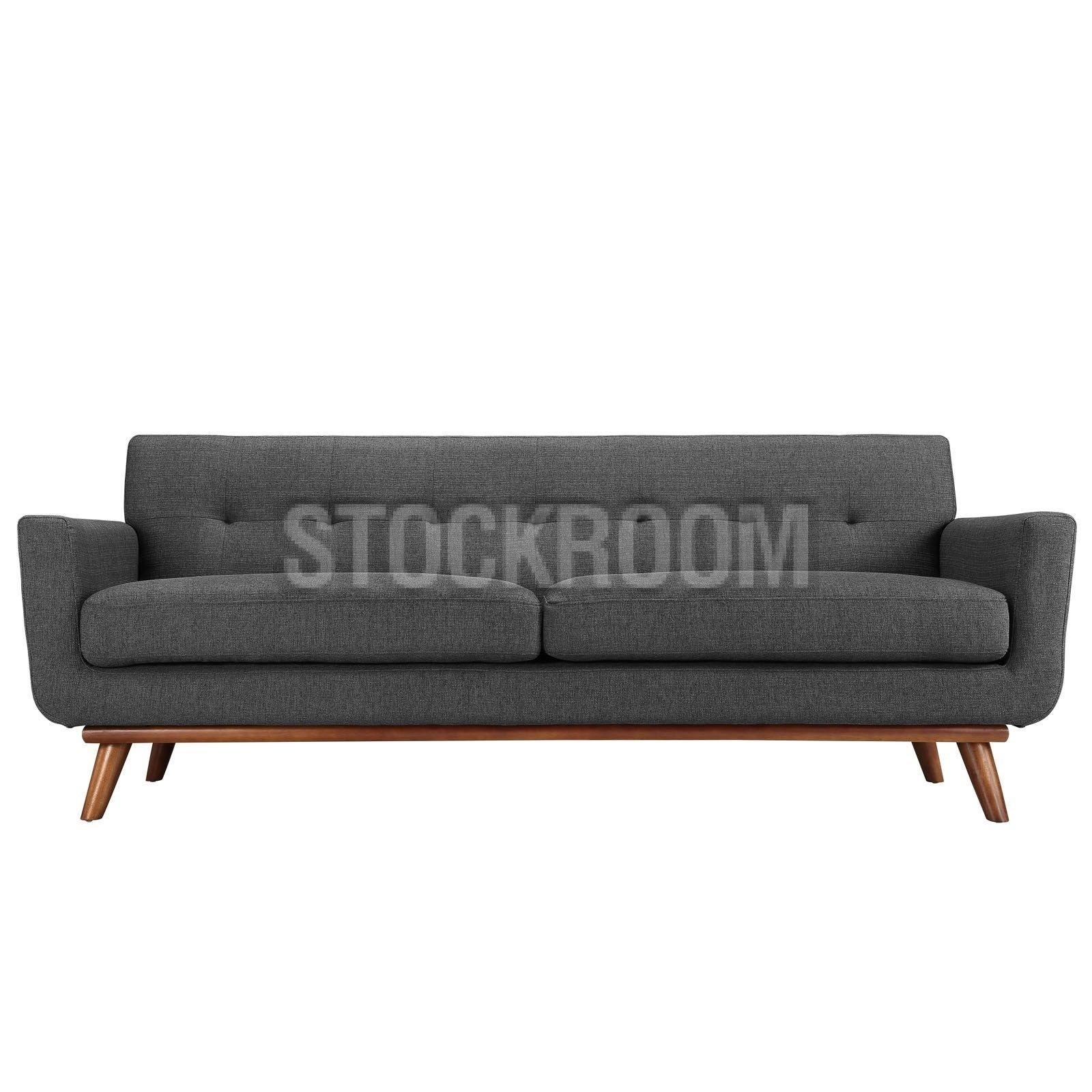 Aquarius Fabric Sofa 2 Seater : Stockroom Hong Kong Contemporary In Aquarius Dark Grey Sofa Chairs (Image 7 of 20)