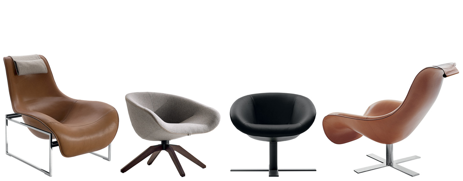 Armchair Mart  B&b Italia – Designantonio Citterio With Theo Ii Swivel Chairs (Image 3 of 20)