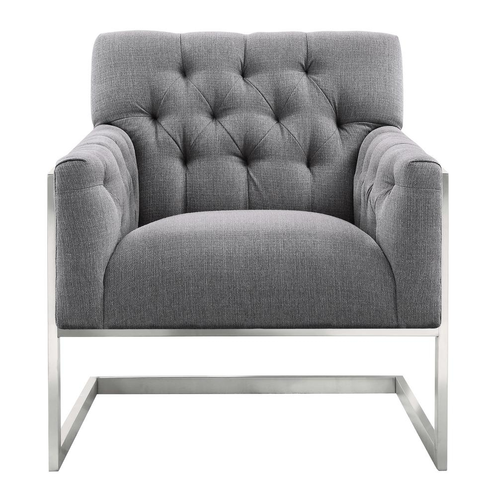Armen Living Armen Living Emily Grey Fabric Contemporary Accent In Loft Black Swivel Accent Chairs (View 10 of 20)