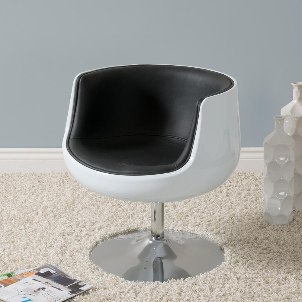Armen Living Truly Grey Velvet And Black Velvet Piping Contemporary Regarding Katrina Blue Swivel Glider Chairs (Image 1 of 20)