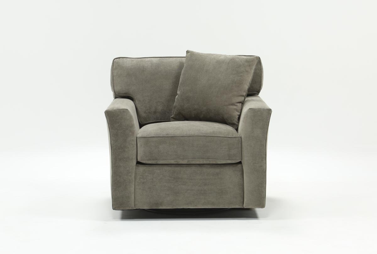 Aspen Swivel Chair | Living Spaces Inside Mercer Foam Swivel Chairs (View 3 of 20)