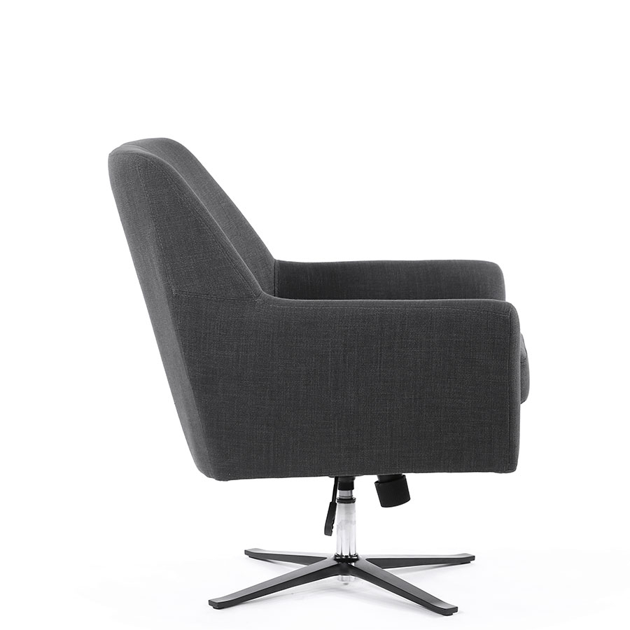 Ava Swivel Chair | Various Colours |Black Mango | The Block Shop With Regard To Charcoal Swivel Chairs (Image 3 of 20)
