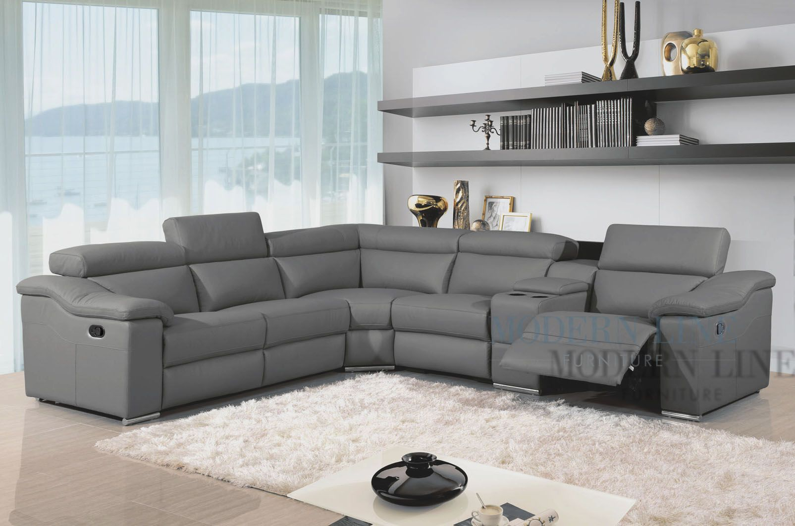 Awesome Great Charcoal Grey Sectional Sofa 29 About Remodel Home Throughout Gina Grey Leather Sofa Chairs (Image 4 of 20)