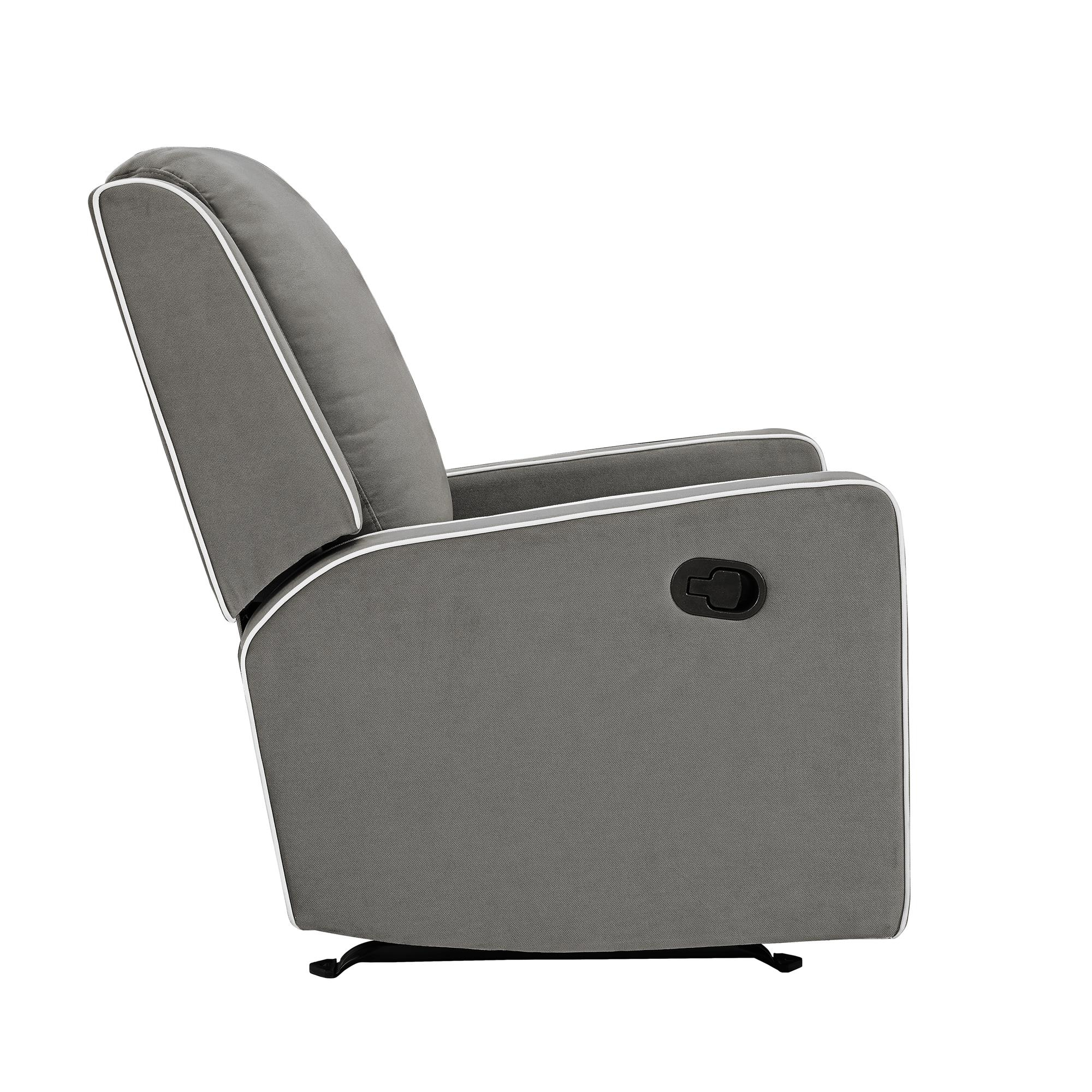 Baby Relax Robyn Rocking Recliner, Graphite Grey – Walmart With Regard To Abbey Swivel Glider Recliners (View 13 of 20)