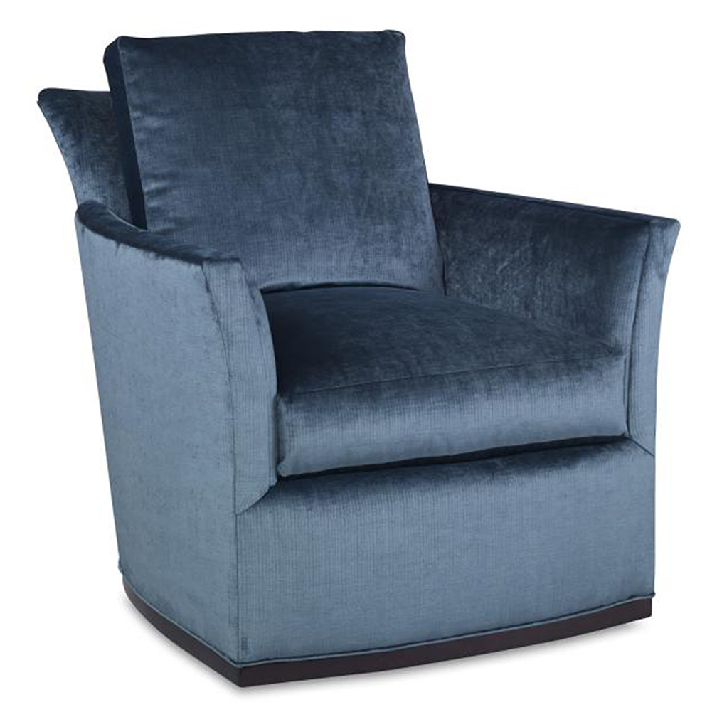Bailey Swivel Chair – Luxe Home Company With Regard To Bailey Mist Track Arm Skirted Swivel Gliders (Image 4 of 20)
