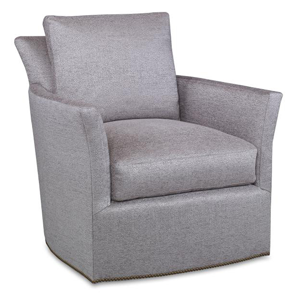 Bailey Swivel Chair – Luxe Home Company Within Bailey Mist Track Arm Skirted Swivel Gliders (Image 7 of 20)