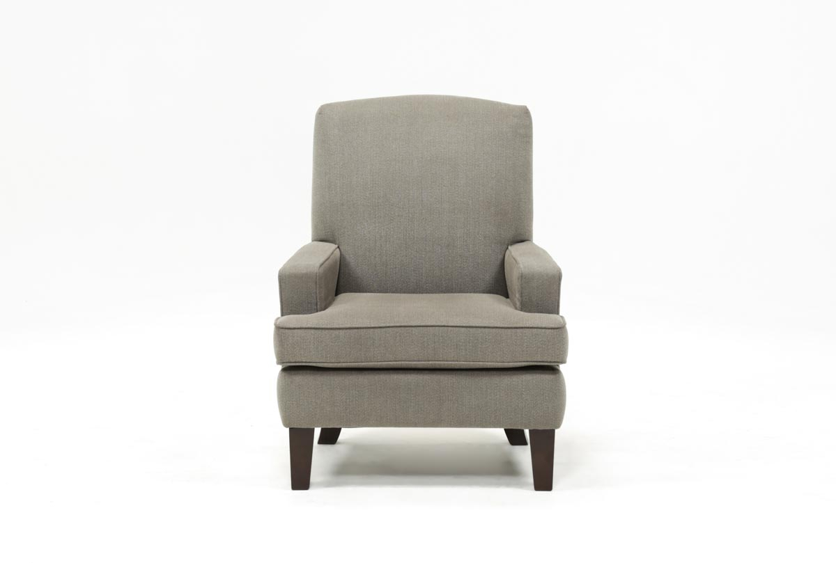 Bailey Track Arm Club Chair W/espresso Finish | Living Spaces Pertaining To Bailey Roll Arm Skirted Swivel Gliders (Image 9 of 20)