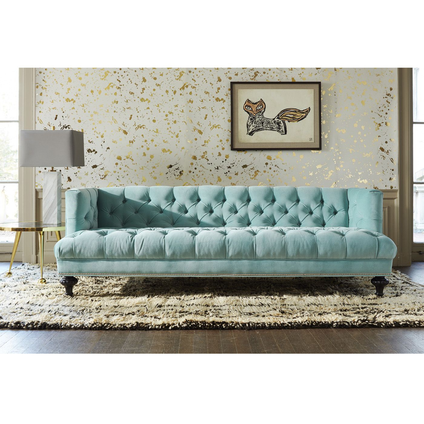 Baxter Sofa | Sofas Ideas | Pinterest | Jonathan Adler, Nailhead Pertaining To Alder Grande Ii Sofa Chairs (Image 11 of 20)