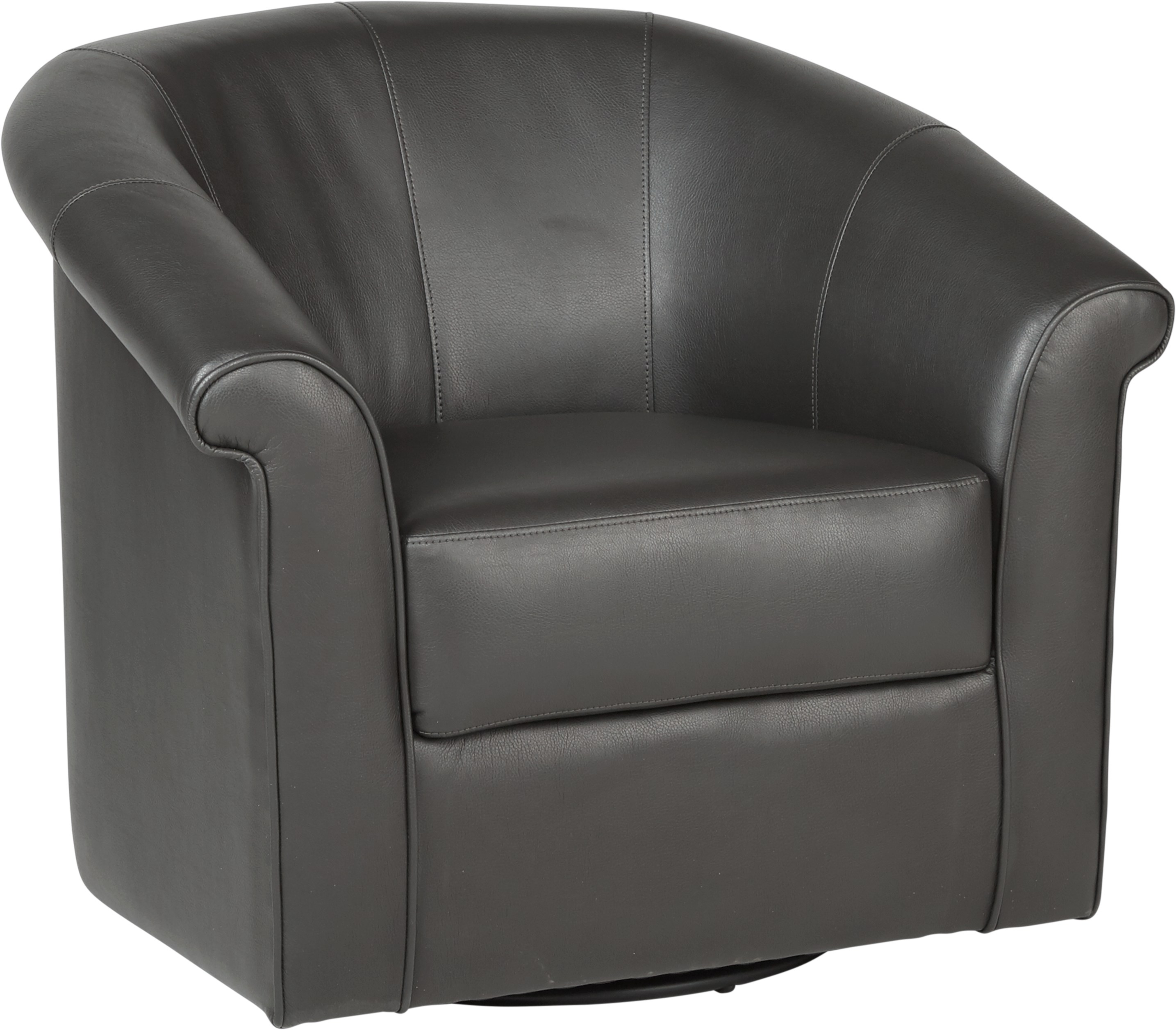 Benning Charcoal Swivel Chair – Chairs (Black) In Charcoal Swivel Chairs (Image 6 of 20)