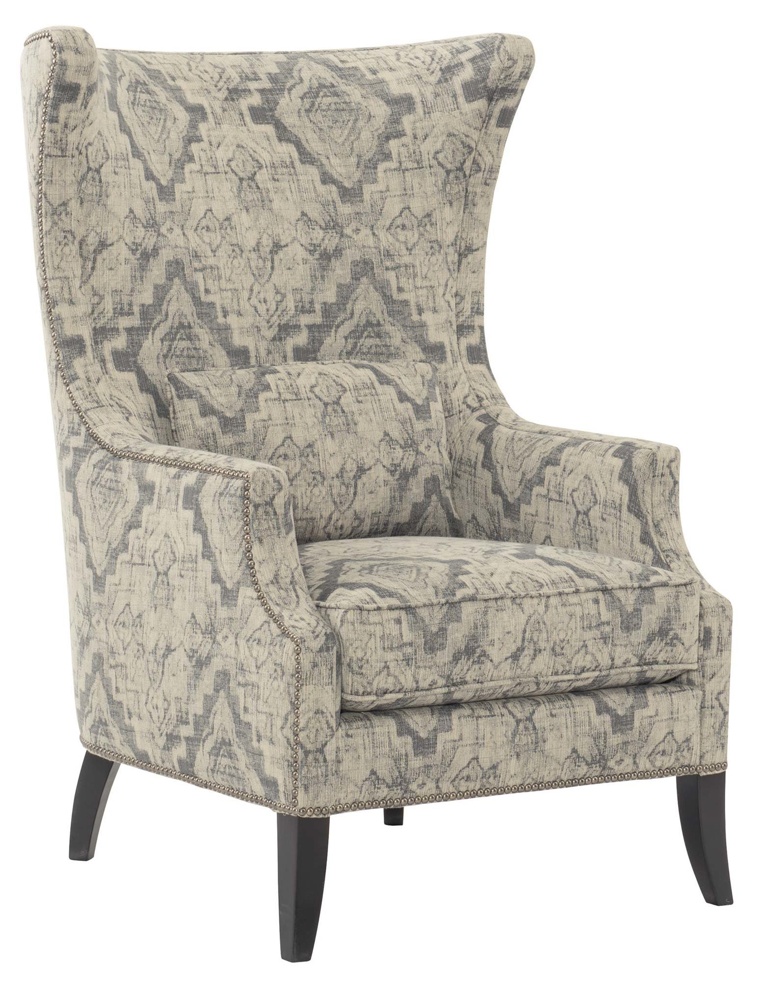 Bernhardt Mona Wingback Chair | Wayfair With Loft Smokey Swivel Accent Chairs (Image 3 of 20)