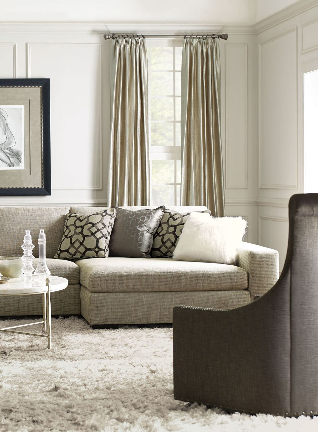 Bernhardt | Orlando Sectional Sofa, Maurice Swivel Chair, Clarion With Cohen Foam Oversized Sofa Chairs (View 20 of 20)