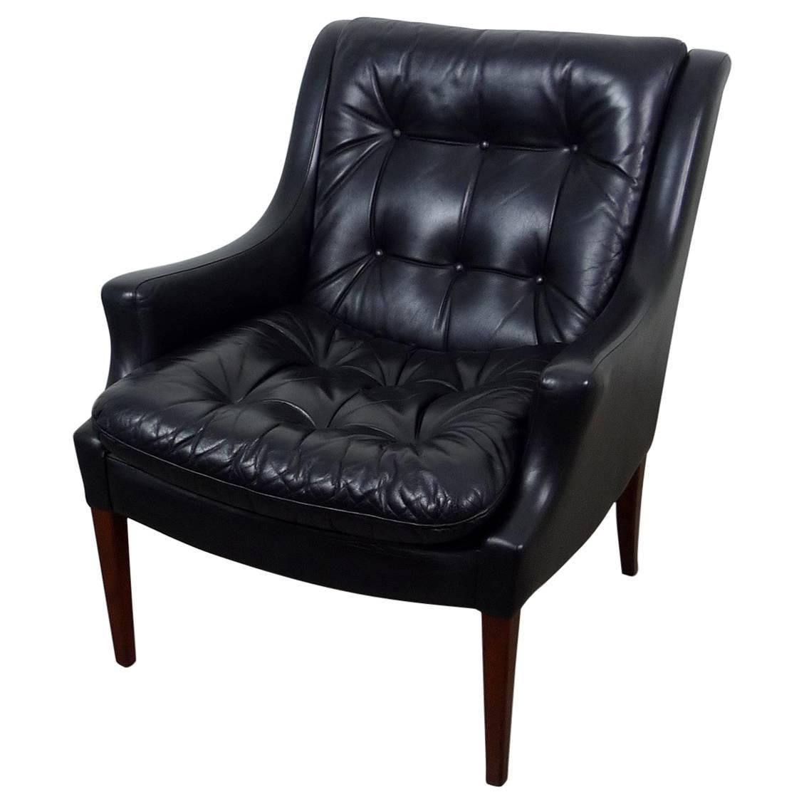 Black Leather Armchair From Walter Knoll, Germany, 1960S | My For Walter Leather Sofa Chairs (Image 1 of 20)