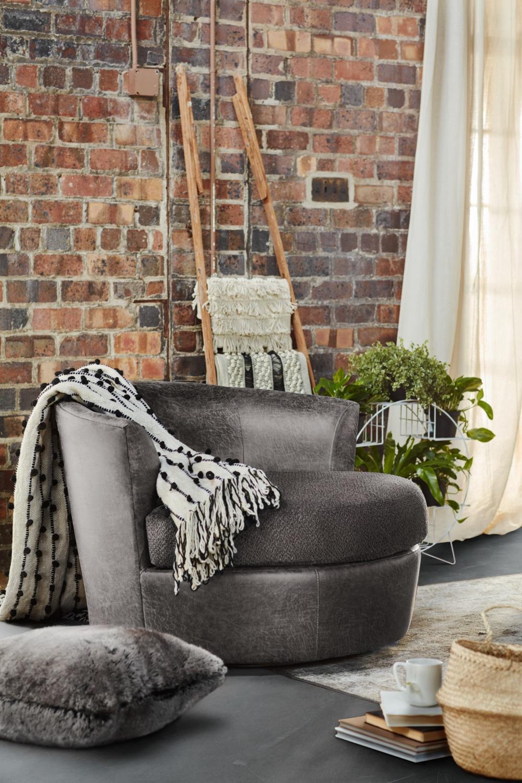 Brando Swivel Swivel Chair | American Signature Furniture Regarding Loft Smokey Swivel Accent Chairs (Image 4 of 20)