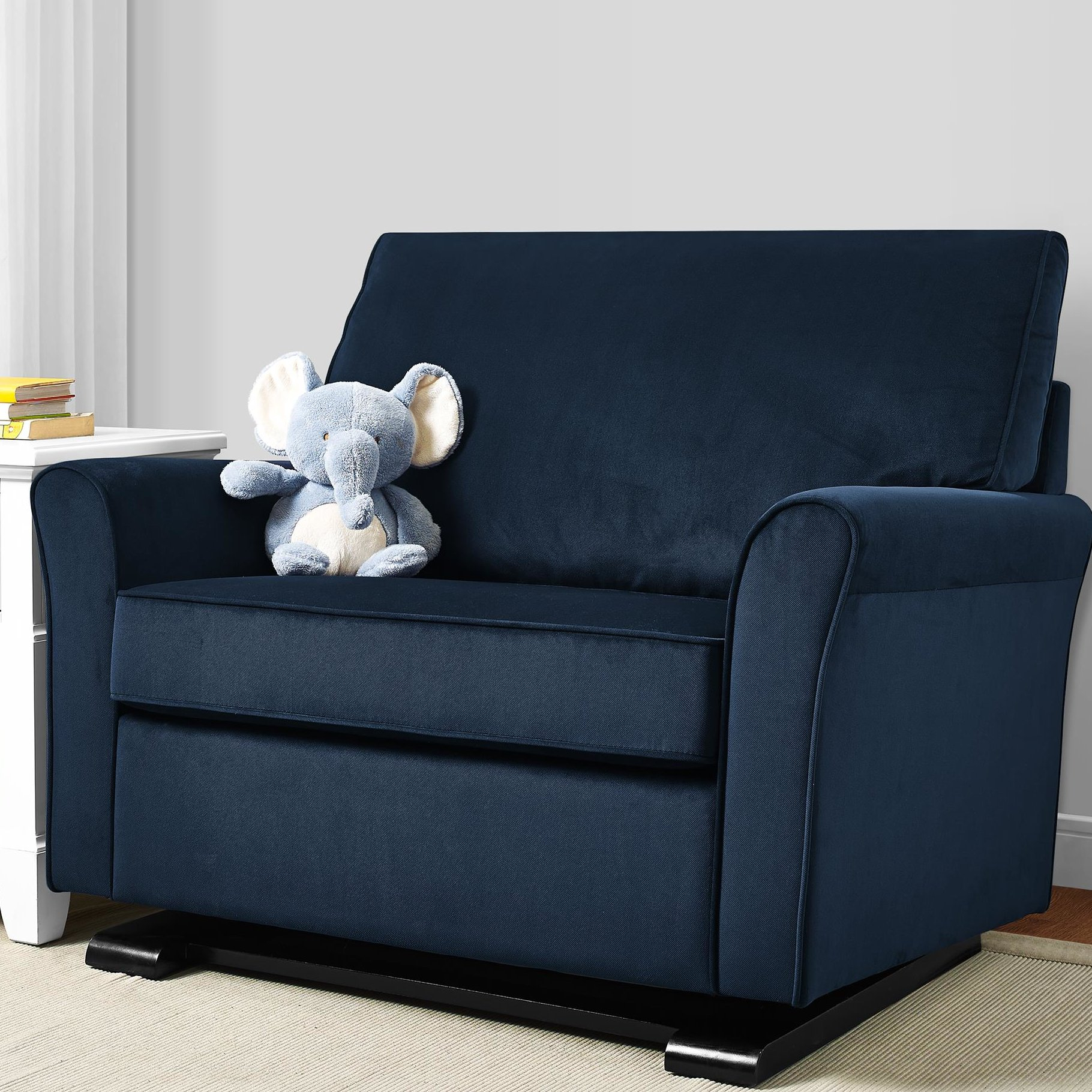 Brayden Studio Kilmarnock Chair And A Half Glider & Reviews | Wayfair Within Gina Blue Leather Sofa Chairs (Image 4 of 20)
