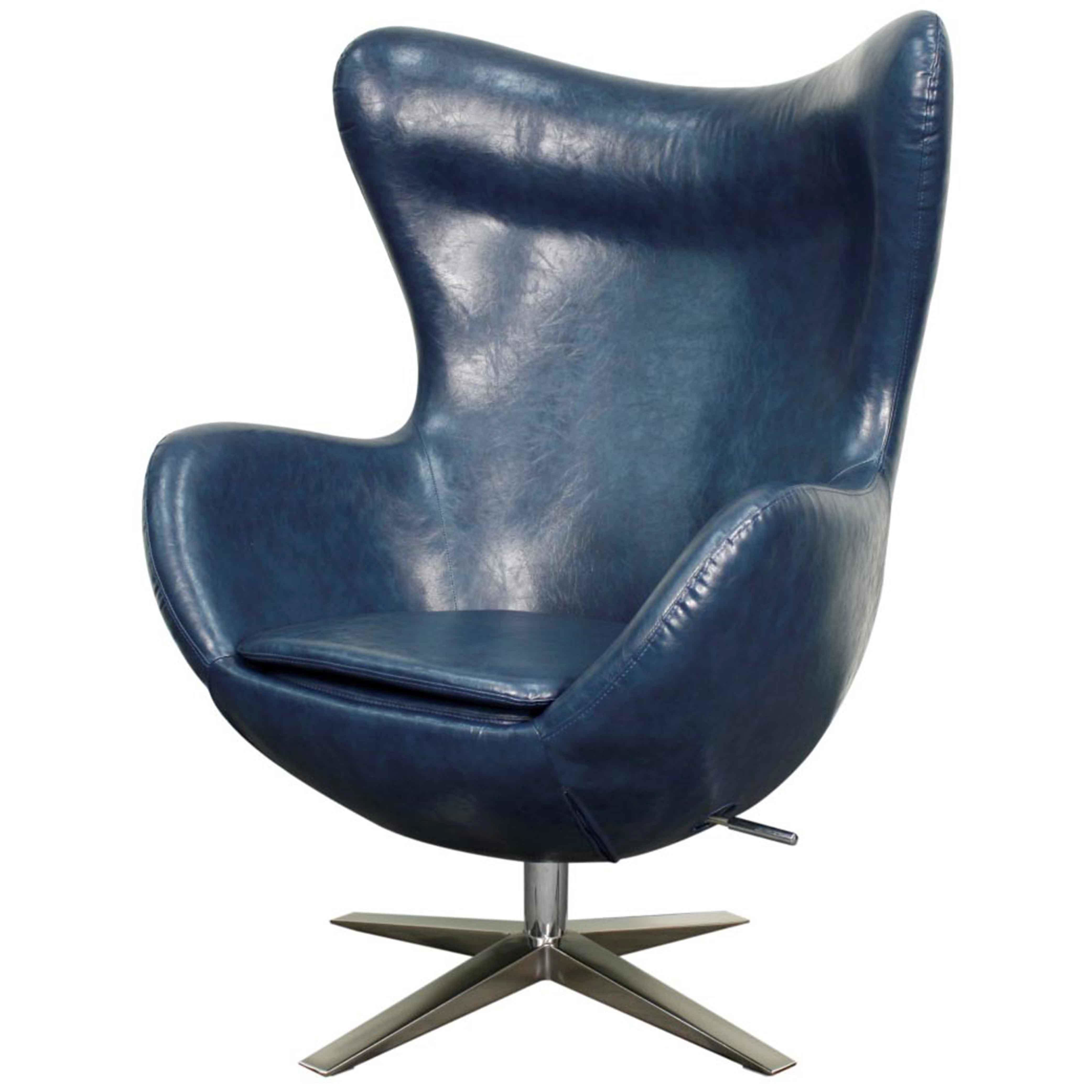 Brayden Studio Ledet Swivel Wingback Chair & Reviews | Wayfair Regarding Katrina Blue Swivel Glider Chairs (View 9 of 20)