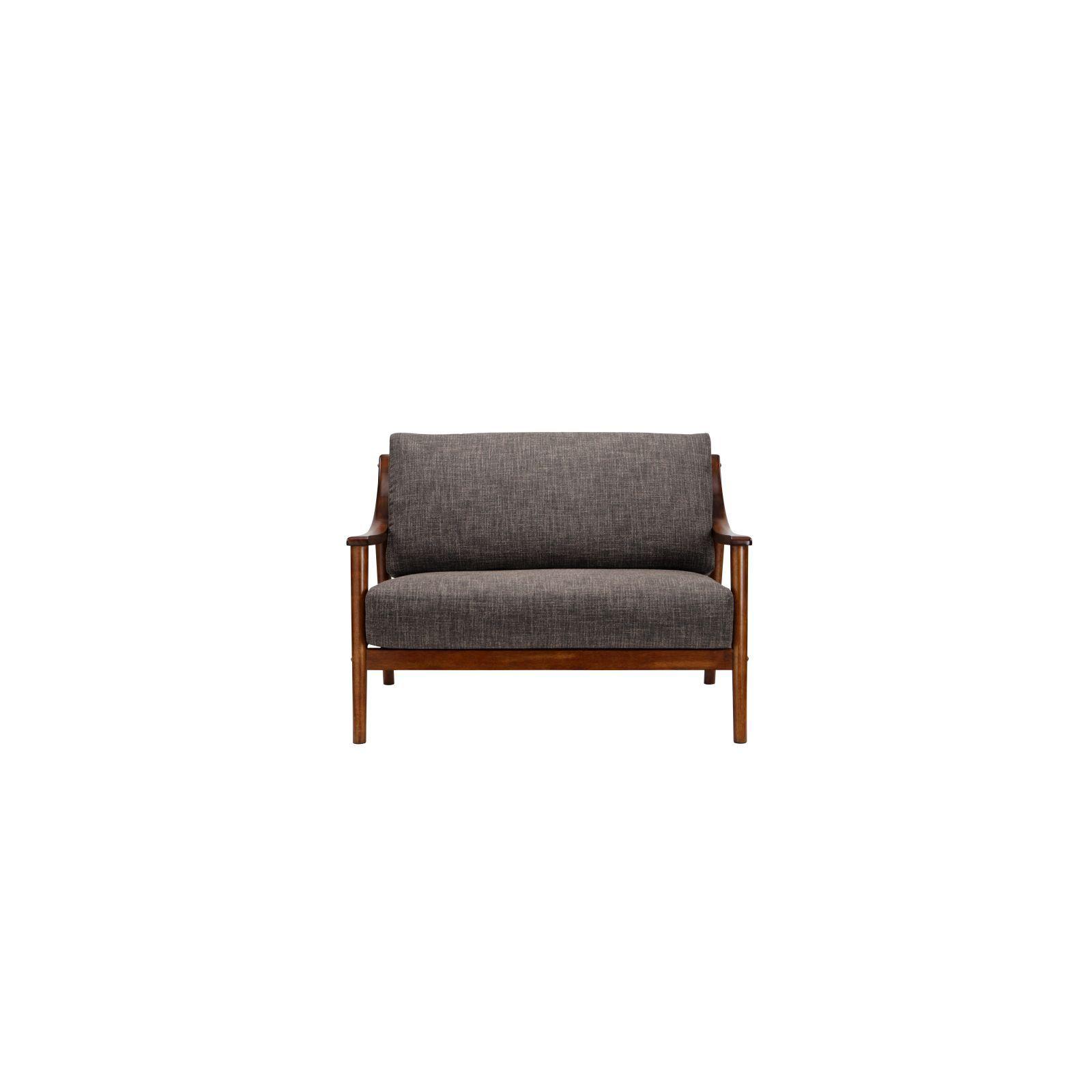 Brennan 2 Seater (Fab) Lava Fabric Sofa – Sofa & Armchairs Throughout Brennan Sofa Chairs (Image 2 of 20)