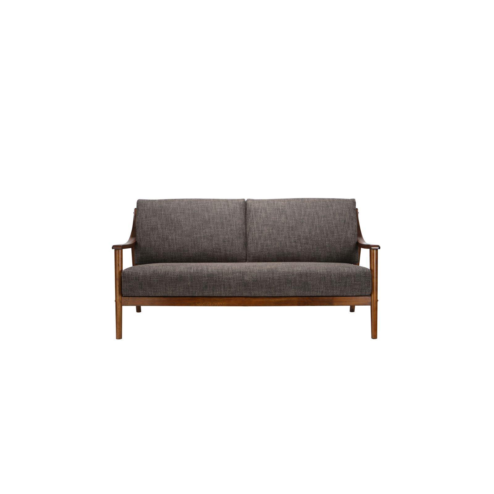 Brennan 3 Seater (Fab) Lava Fabric Sofa – Sofa & Armchairs For Brennan Sofa Chairs (Image 3 of 20)