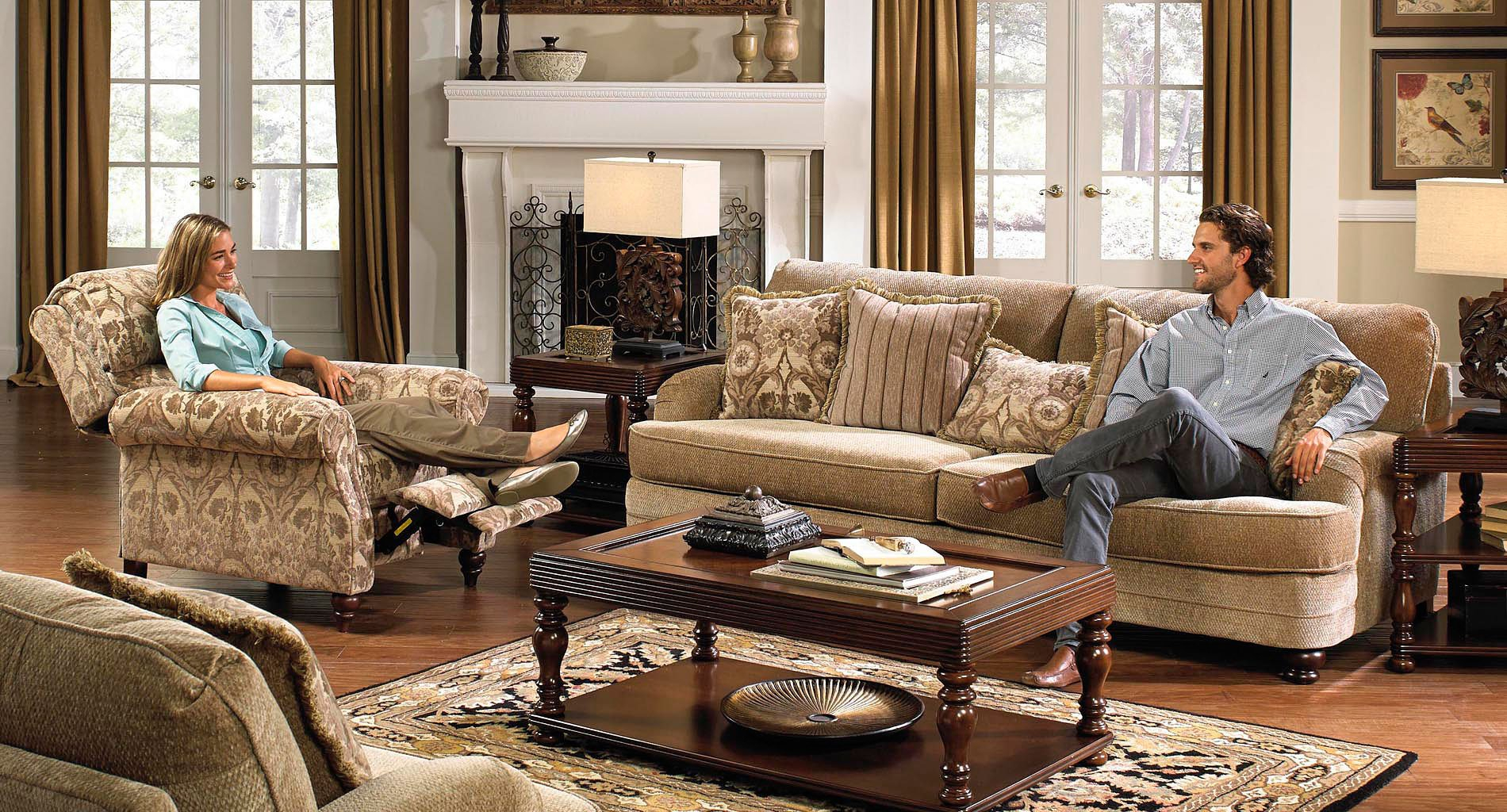 Brennan Living Room Set (Camel) Jackson Furniture | Furniture Cart Intended For Brennan Sofa Chairs (Image 5 of 20)