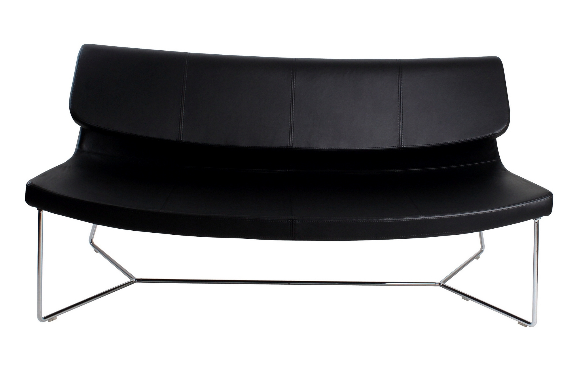 Brennan Sofa Black Leatherette With Regard To Brennan Sofa Chairs (Image 8 of 20)