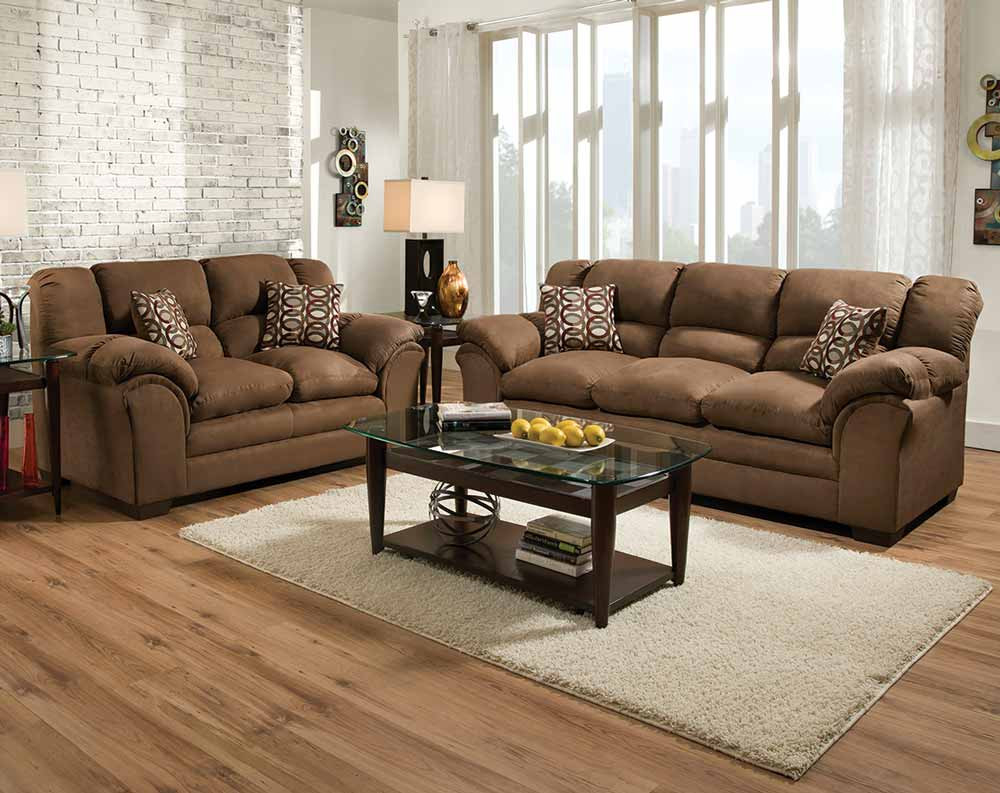 Brown, Plush Couch Set | Venture Chocolate Sofa And Loveseat Within Sierra Foam Ii Oversized Sofa Chairs (Image 1 of 20)