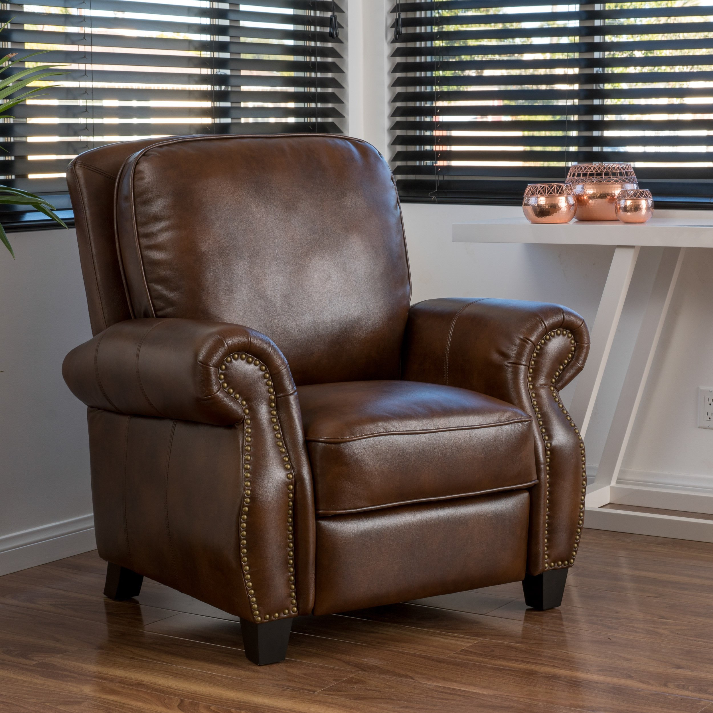 Buy Brown Christopher Knight Home Living Room Chairs Online At Inside Dale Iii Polyurethane Swivel Glider Recliners (Image 3 of 20)