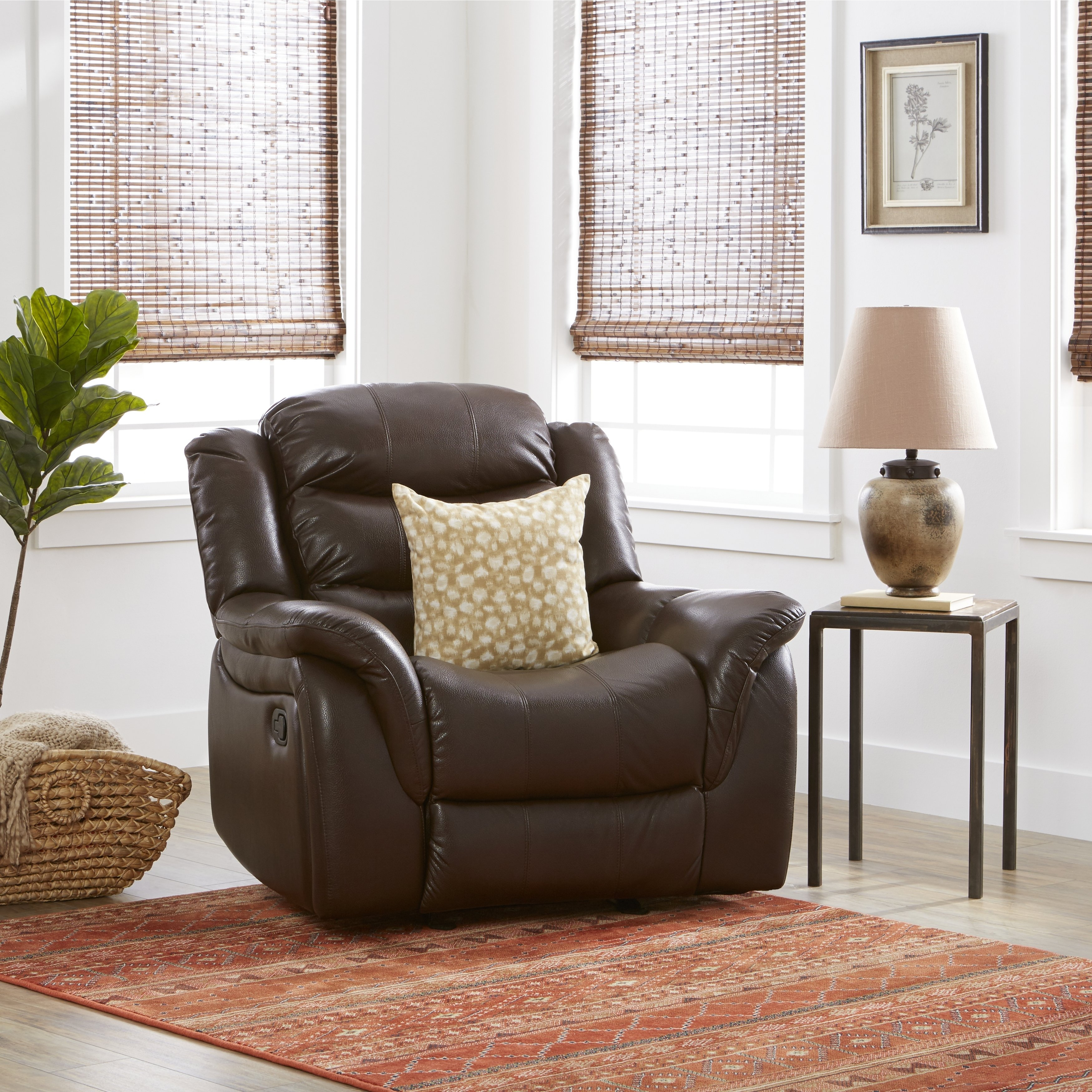 Buy Brown Christopher Knight Home Living Room Chairs Online At Within Dale Iii Polyurethane Swivel Glider Recliners (Image 4 of 20)