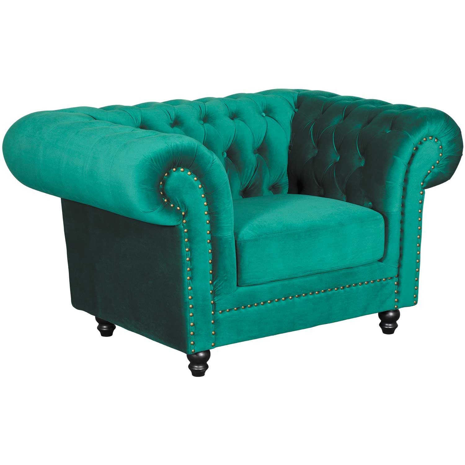 Callie Tufted Emerald Chair | My225 S1/cc 42 | Cambridge Home | Afw With Callie Sofa Chairs (View 18 of 20)