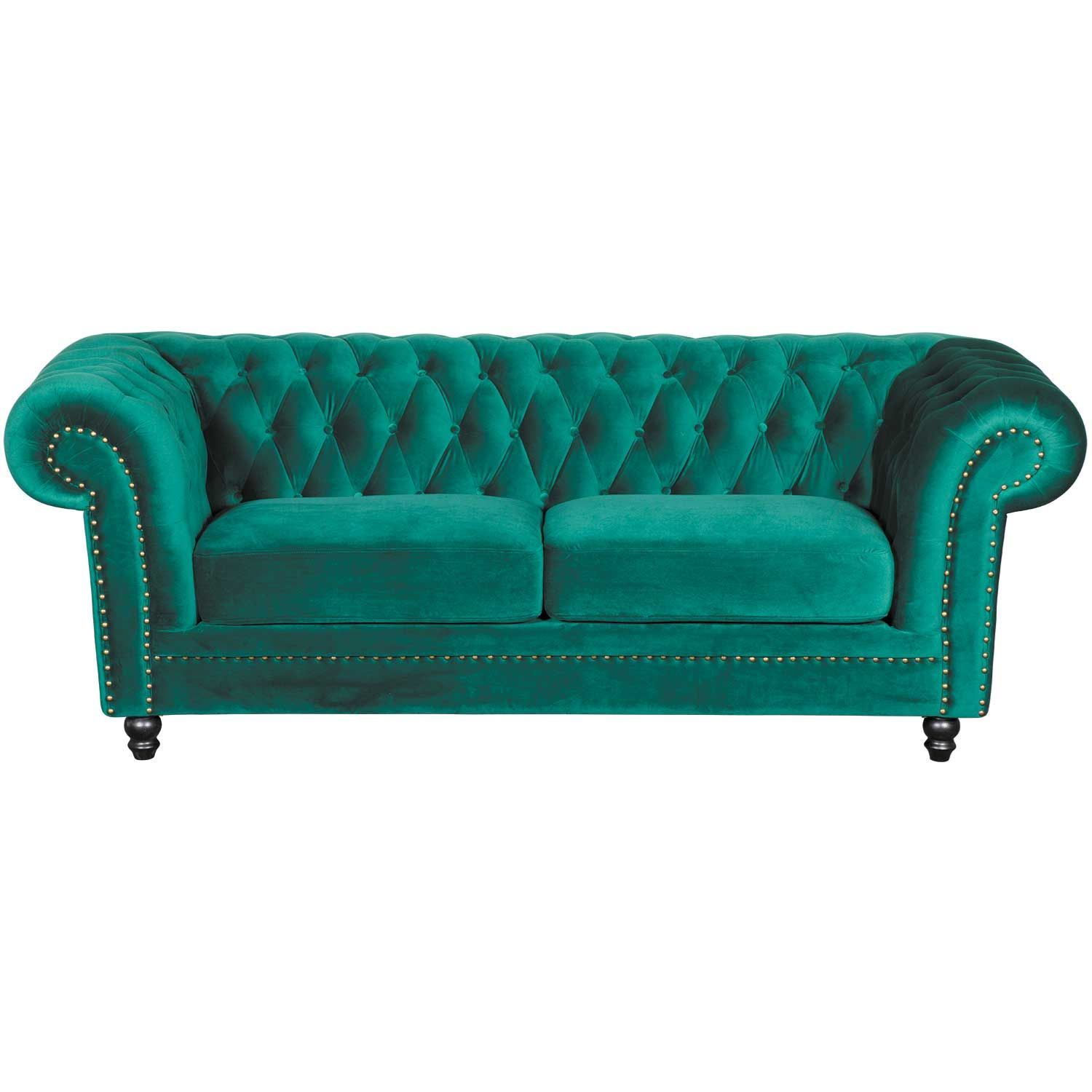 Callie Tufted Emerald Sofa | My225 S3/cc 42 | Cambridge Home | Afw In Callie Sofa Chairs (Photo 9 of 20)