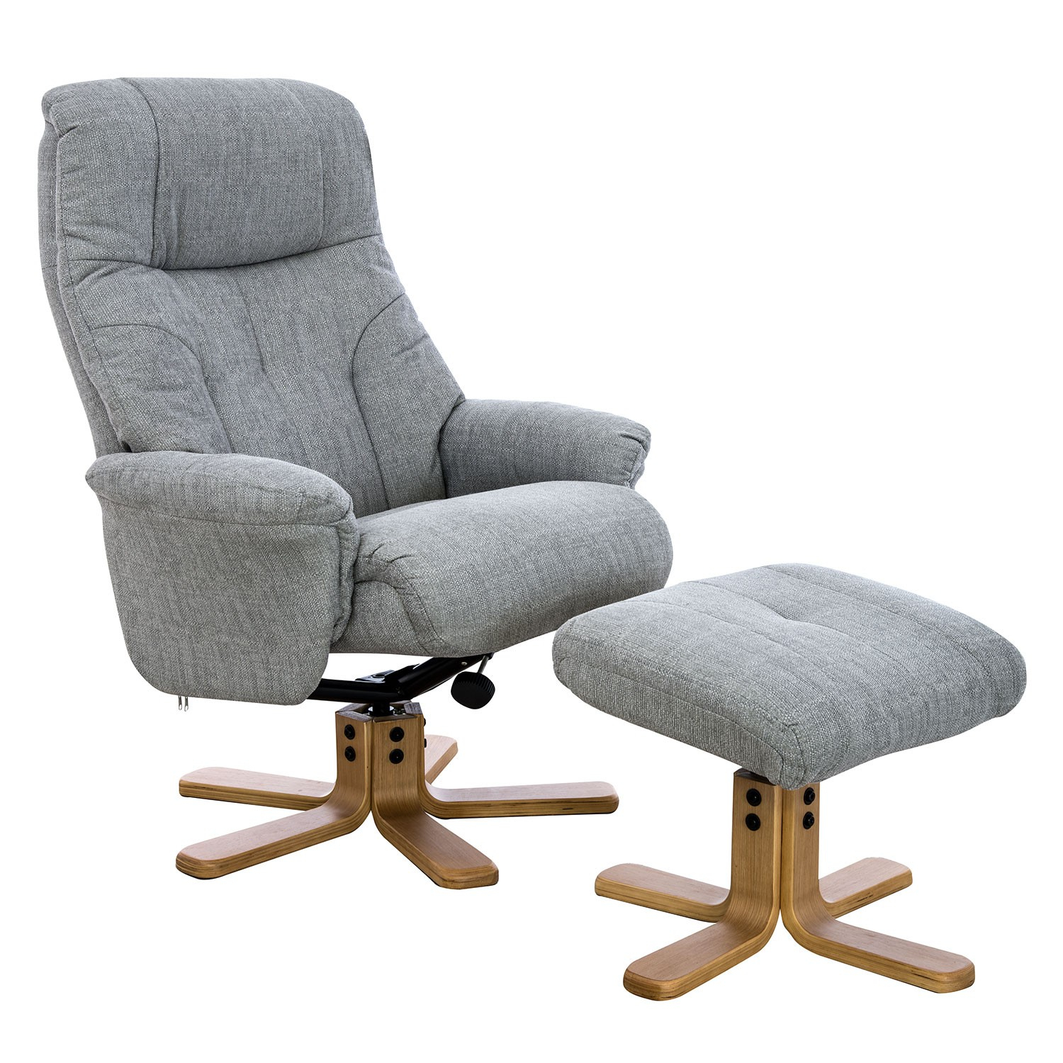Casa Trento Swivel Recliner And Footstool | Leekes In Decker Ii Fabric Swivel Rocker Recliners (Image 3 of 20)