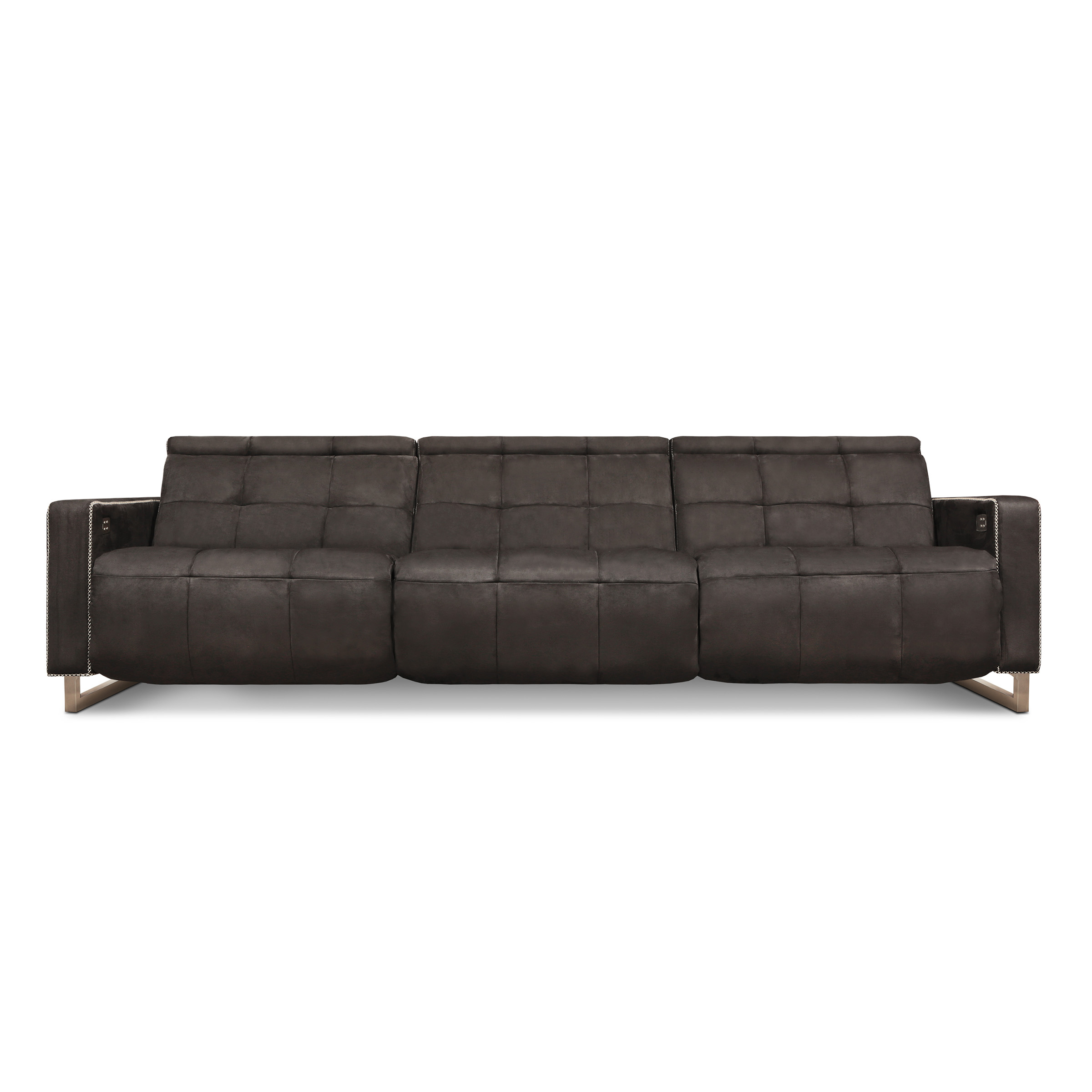 Casino Royale Motion – Eleanor Rigby Home Within Caressa Leather Dark Grey Sofa Chairs (Photo 18 of 20)
