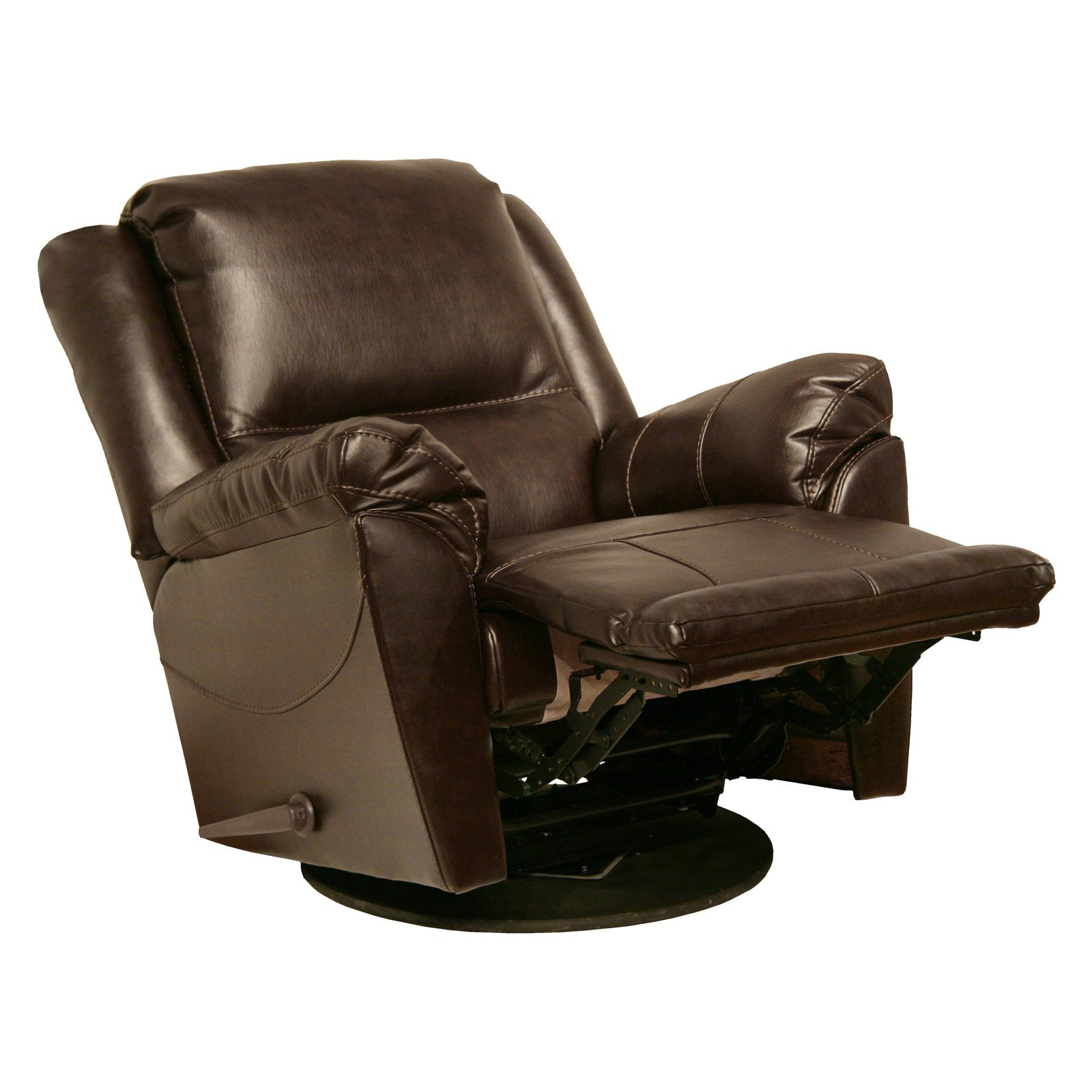 Catnapper Maverick Chaise Leather Swivel Glider Recliner – Walmart Inside Swivel Tobacco Leather Chairs (Image 4 of 20)