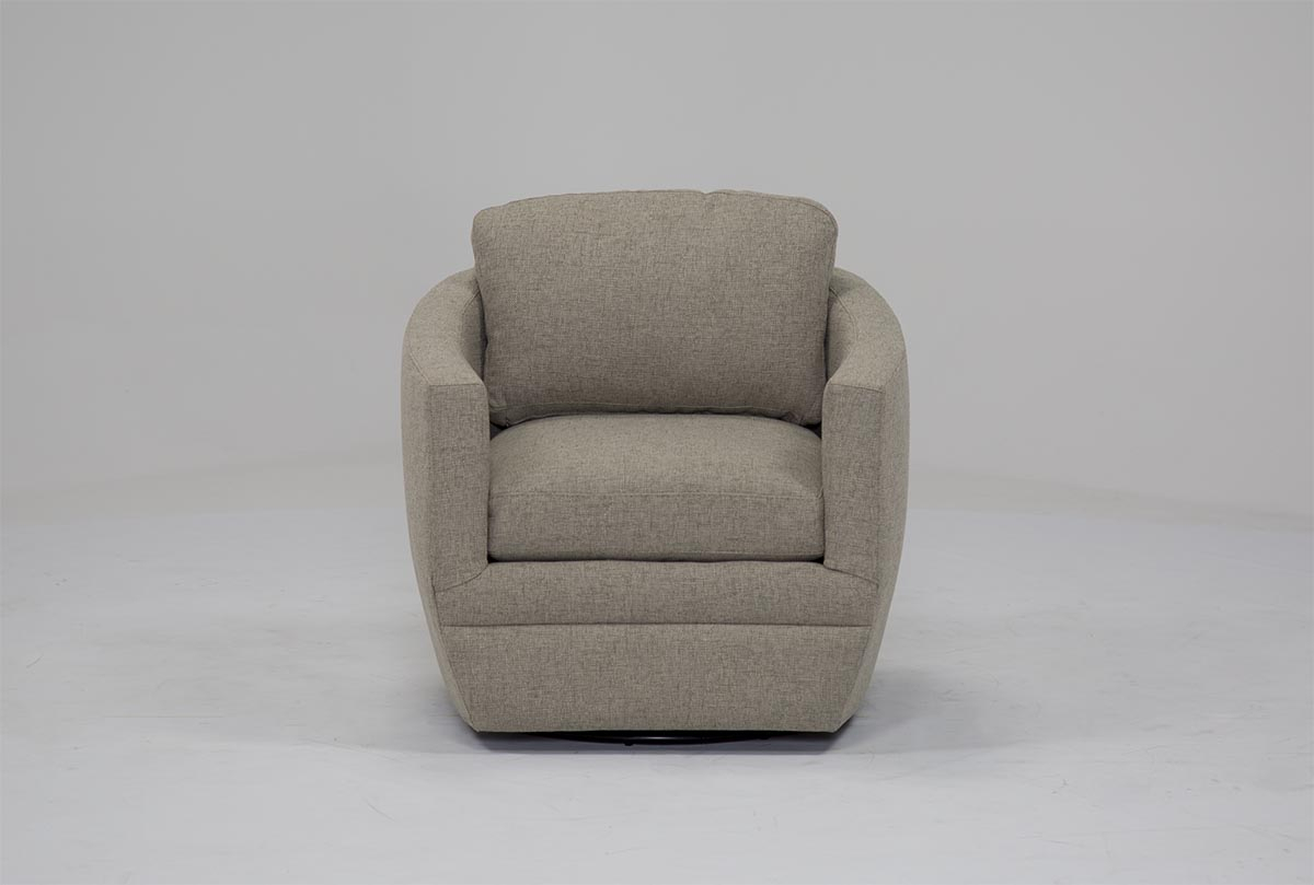Chadwick Gunmetal Swivel Chair | Living Spaces Within Amala White Leather Reclining Swivel Chairs (Photo 19 of 20)