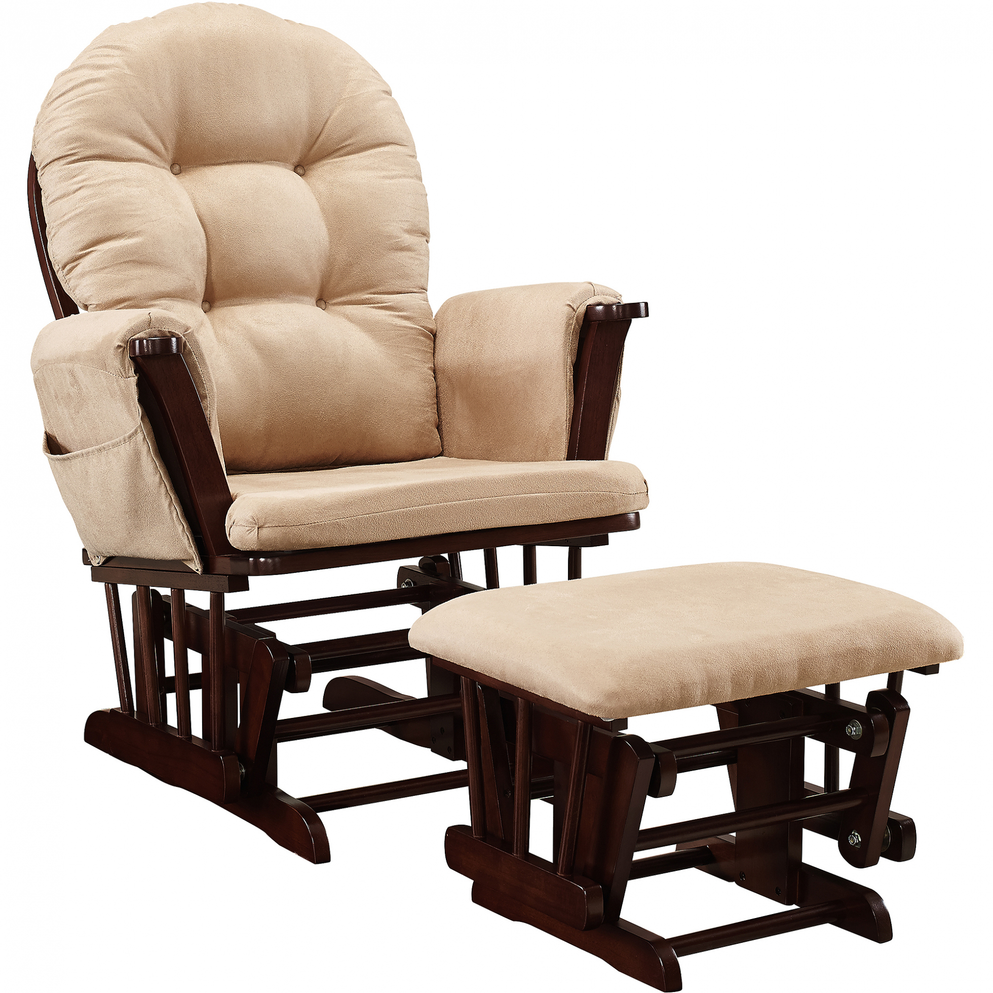 Chairs: Baby Relax Abby Rocker Gray Walmart Inside Entrancing Throughout Abbey Swivel Glider Recliners (View 17 of 20)