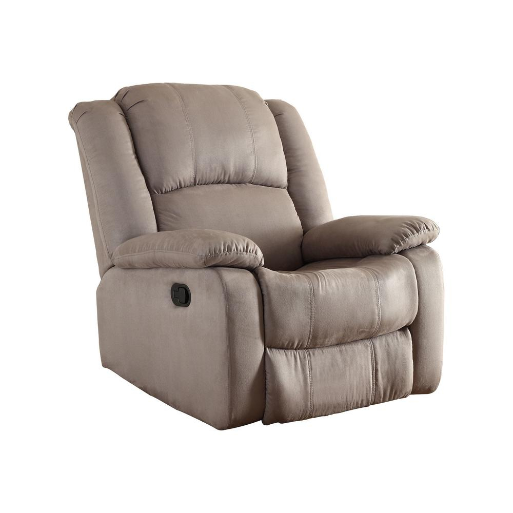 Chocolate – Chairs – Living Room Furniture – The Home Depot Regarding Hercules Chocolate Swivel Glider Recliners (View 13 of 20)