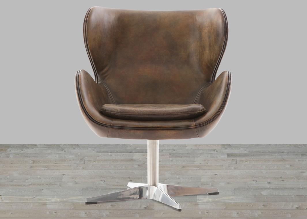 Classic England Espresso Toned Leather Swivel Chair Pertaining To Espresso Leather Swivel Chairs (Photo 3 of 20)