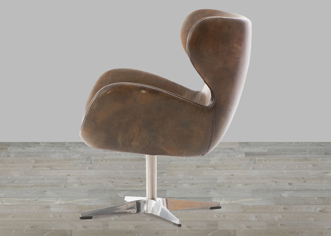 Classic England Espresso Toned Leather Swivel Chair Within Espresso Leather Swivel Chairs (Photo 14 of 20)