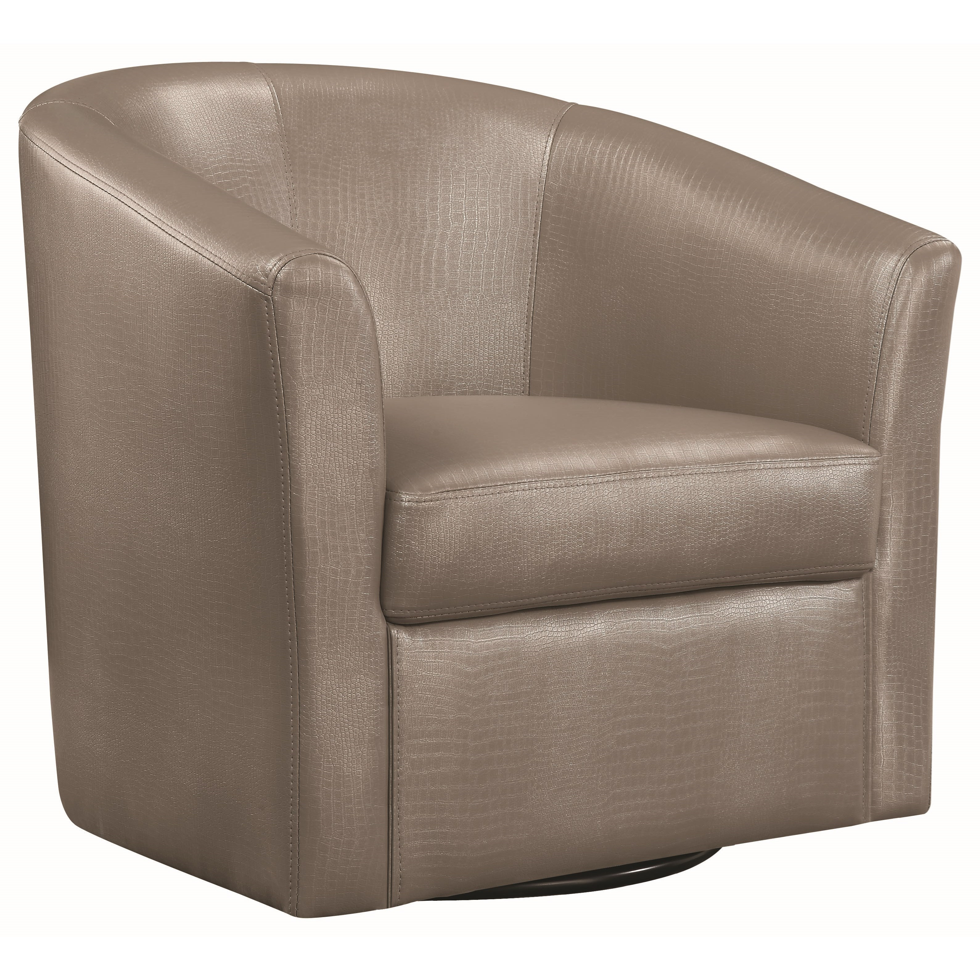 Coaster Accent Seating Contemporary Styled Accent Swivel Chair Inside Umber Grey Swivel Accent Chairs (Image 7 of 20)