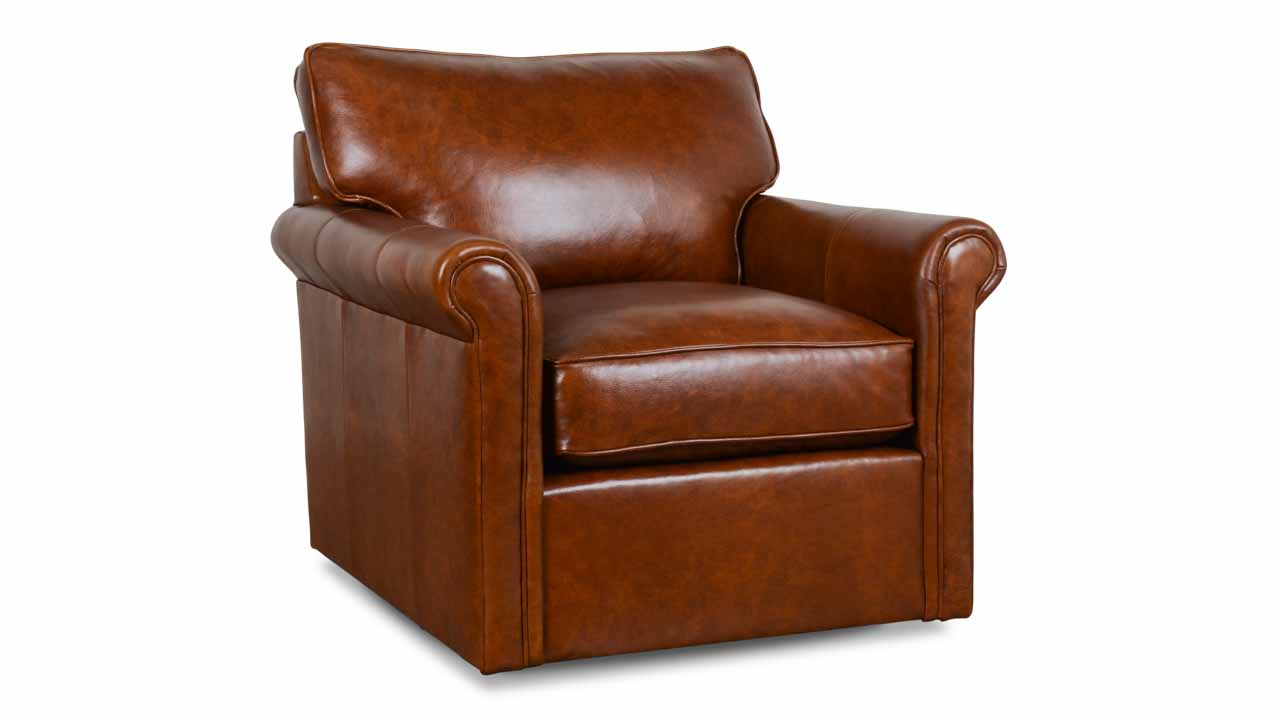 Cococo Home | Leather Recliners And Swivel Chairs – Made In Usa Pertaining To Chocolate Brown Leather Tufted Swivel Chairs (View 10 of 20)