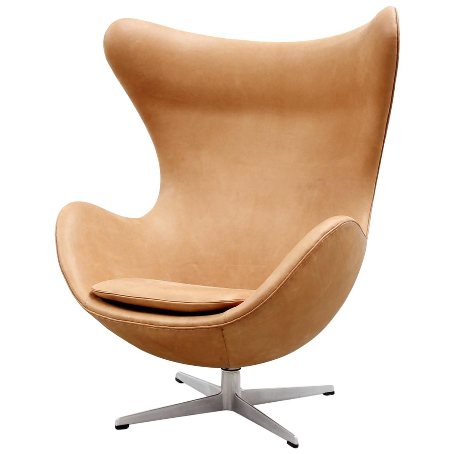 Cognac Leather Egg Chairarne Jacobsen For Fritz Hansen, 1966 Intended For Alder Grande Ii Swivel Chairs (Photo 12 of 20)