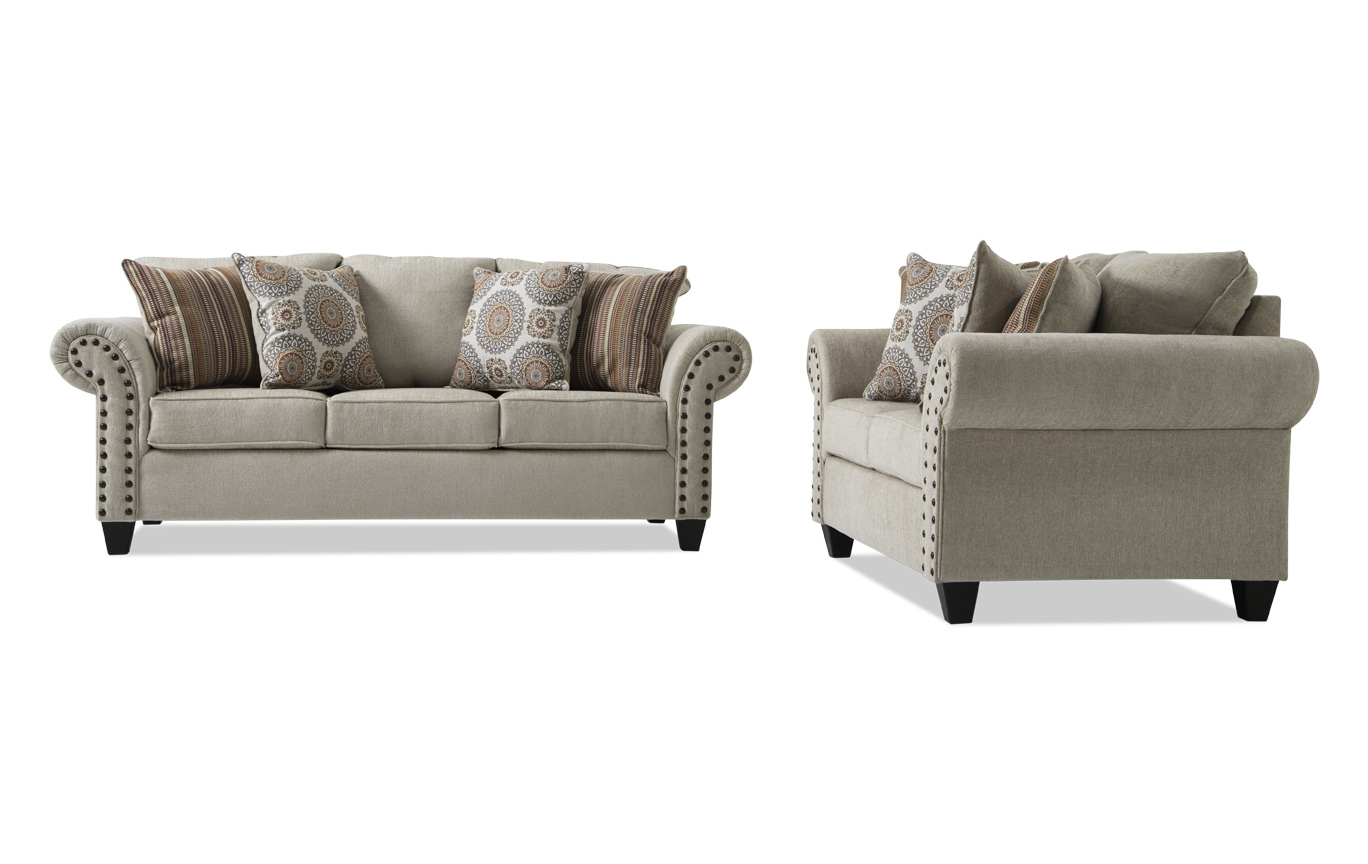 Collections | Living Room Collections | Bob's Discount Furniture Throughout Sierra Foam Ii Oversized Sofa Chairs (Image 2 of 20)