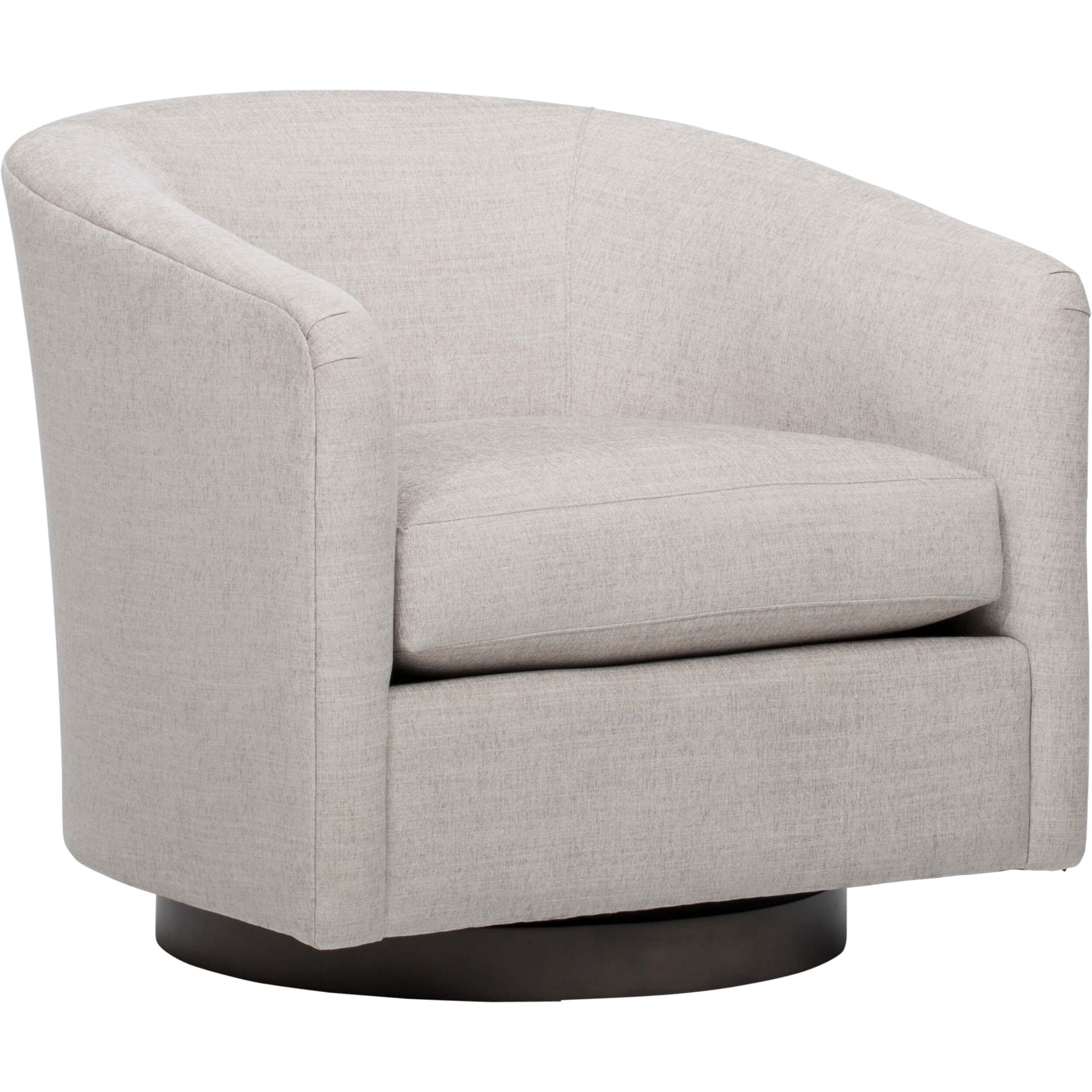 Coltrane Swivel Chair, Dame Feather In 2018 | Bar Harbor Living Room Intended For Harbor Grey Swivel Accent Chairs (Image 7 of 20)