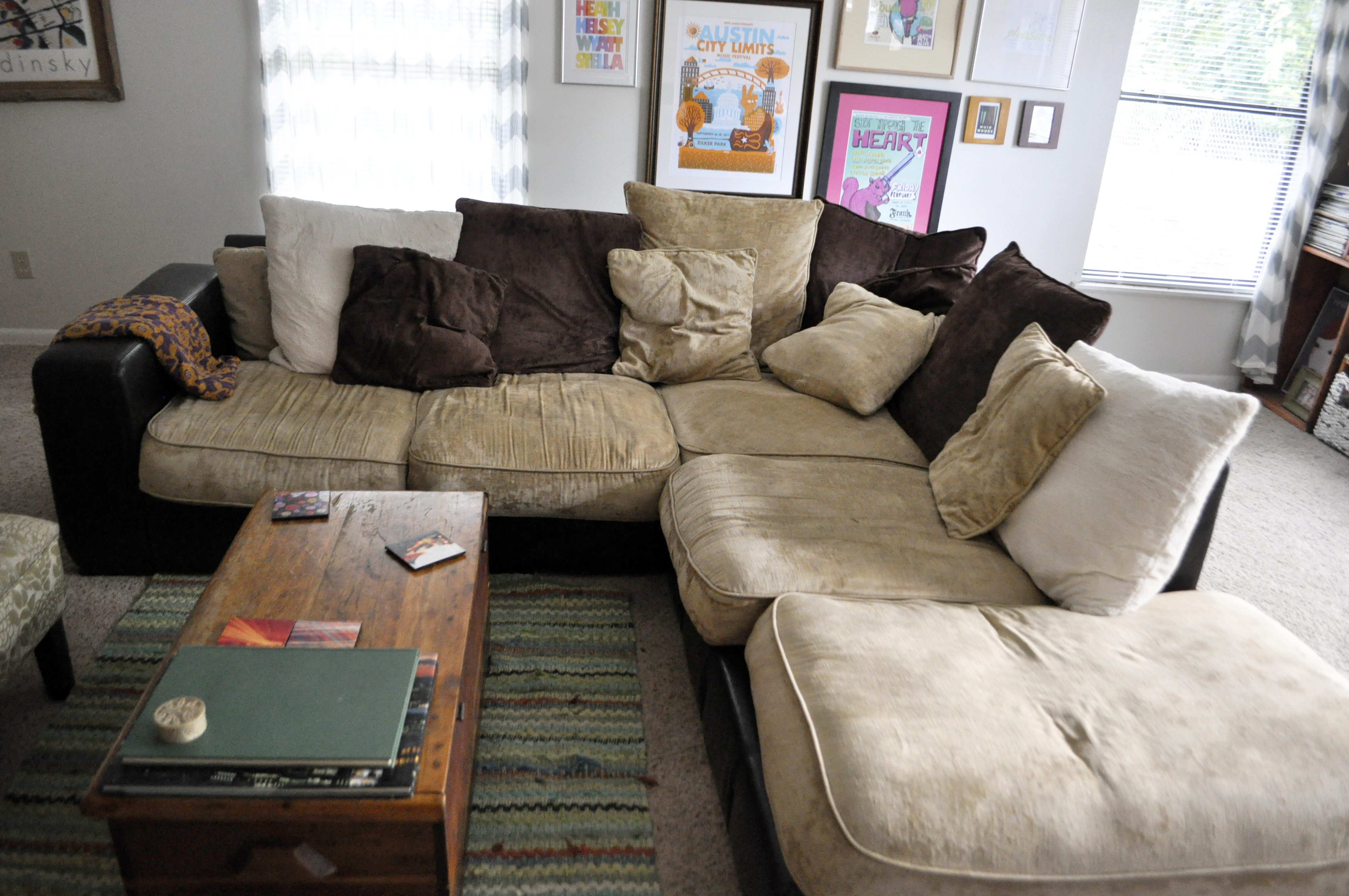 Comfortable Sectional Mid Century Modern Living Room Fortable Sofa Intended For Mcdade Graphite Sofa Chairs (Image 2 of 20)