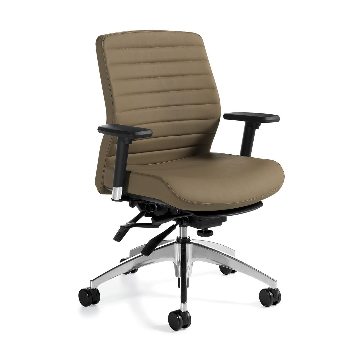 Contemporary Office Armchair / Polyurethane / Leather / Swivel With Aspen Swivel Chairs (Image 9 of 20)
