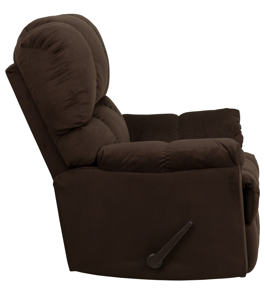 Contemporary Top Hat Chocolate Microfiber Rocker Recliner Inside Hercules Chocolate Swivel Glider Recliners (View 19 of 20)
