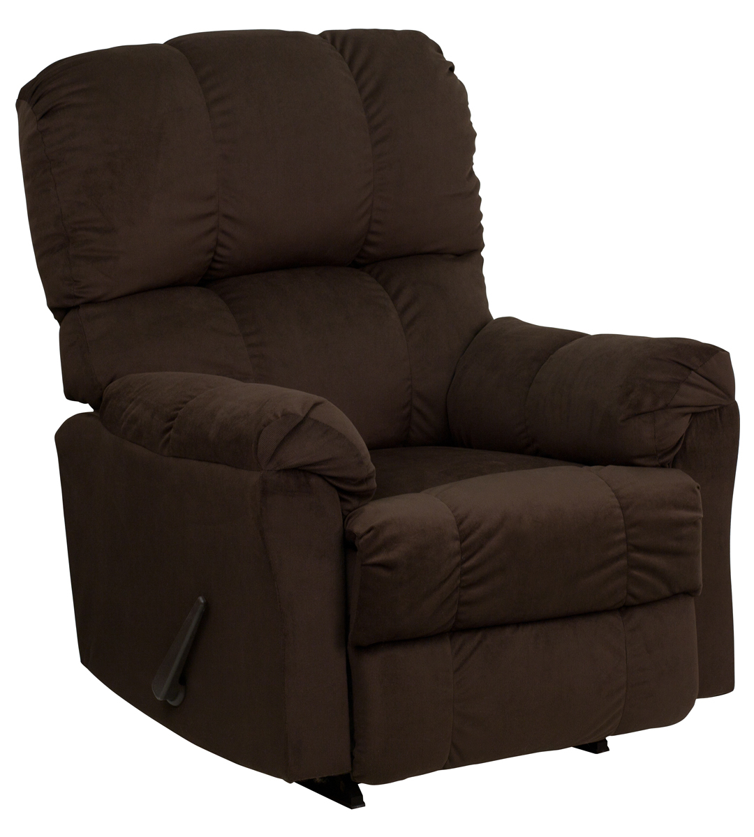 Contemporary Top Hat Chocolate Microfiber Rocker Recliner With Regard To Hercules Chocolate Swivel Glider Recliners (View 10 of 20)