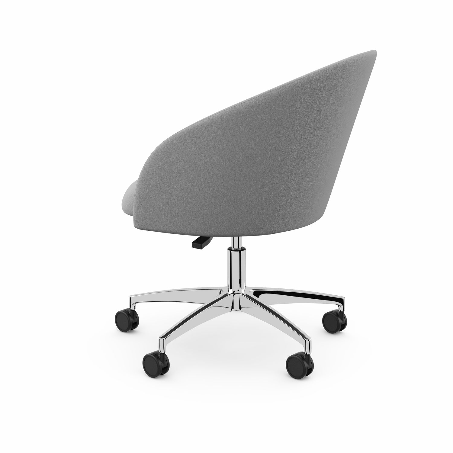 Contemporary Visitor Armchair / Fabric / Chrome Steel / Star Base With Regard To Chill Swivel Chairs With Metal Base (Image 5 of 20)