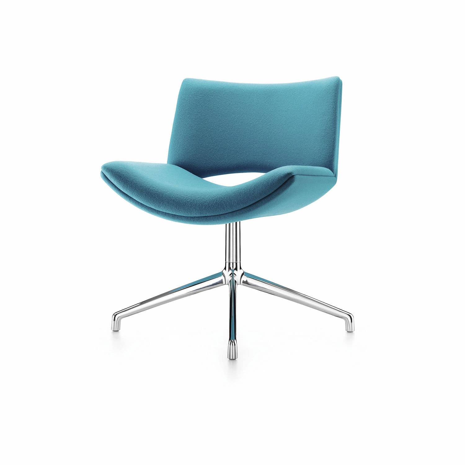 Contemporary Visitor Chair / Upholstered / Star Base / Swivel With Regard To Chill Swivel Chairs With Metal Base (Image 7 of 20)